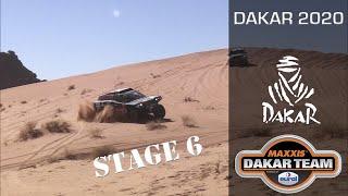 Dakar stage 6 - heavy sand dunes and towing a quad in Dakar rally