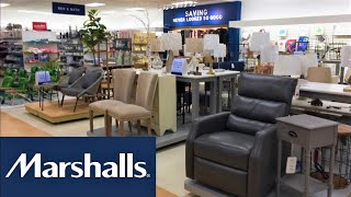 MARSHALLS REOPENING HOME FURNITURE CHAIRS TABLES HOME DECOR SHOP WITH ME SHOPPING STORE WALKTHROUGH