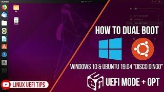 "Cara Dual Boot Windows 10 Dan Ubuntu 19.04 ""Disco Dingo""  UEFI (2019)"