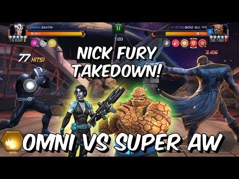 Omni VS Super Alliance War - Nick Fury Takedown /w Havok! - Marvel Contest of Champions