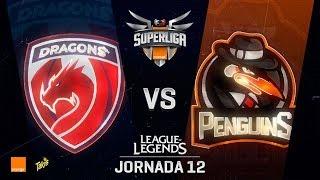 DRAGONS VS PENGUINS | Superliga Orange J12 | Partido 2 | Split Verano [2018]