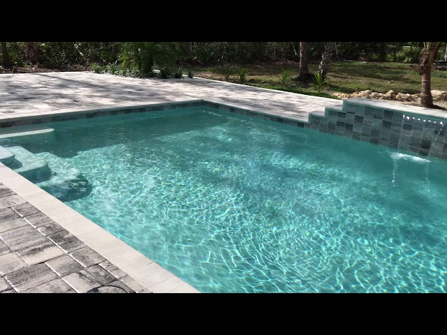Custom Pool with Water Feature
