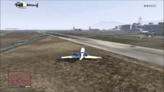 GTA 5 - Tutorial on steering plane - How to fly a plane - EASY WAY