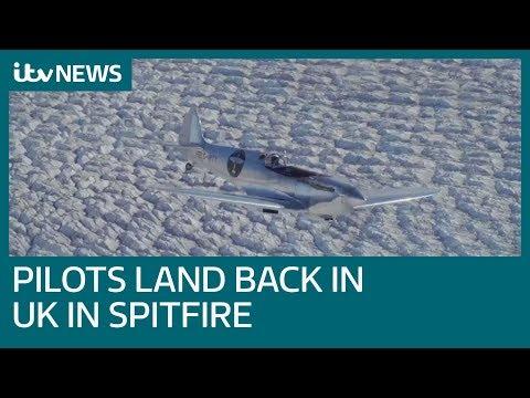 Pilots fly around the world in restored spitfire   ITV News