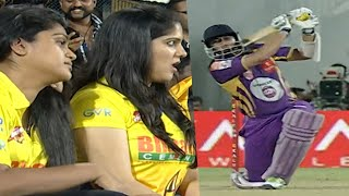 Bengali Star Jisshu Senagupta Hits Massive SIX Vs Chennai in Celebrity Cricket League. Vishnu Vishal