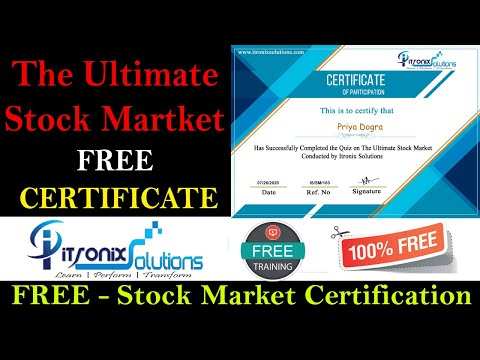 The Ultimate Stock Market Free Certificate - Stock Market Certification