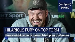 Hilarious Tyson Fury! Heavyweight hero lights up press conference - Video Youtube