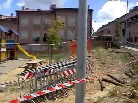 Lavori in via Caduti di Vicobello, Siena
