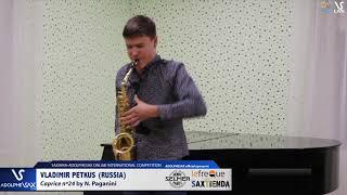 Vladimir PETKUS plays Caprice Nº24 by N. Paganini #adolphesax