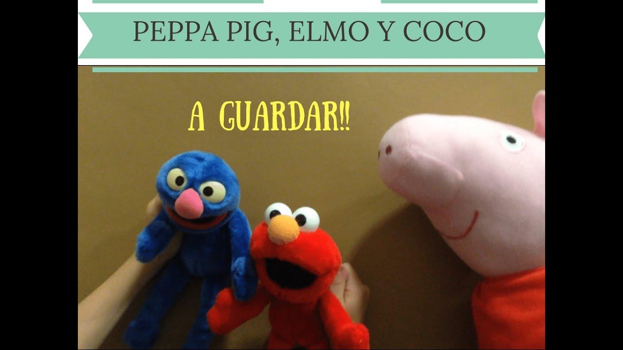 """Peppa Pig, Elmo y Coco cantan """"A guardar"""""""