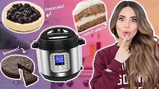 I Tried BAKING Desserts In An INSTANT POT! thumbnail