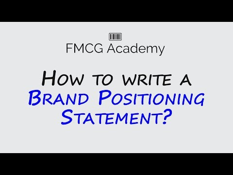 How to write a brand positioning statement?