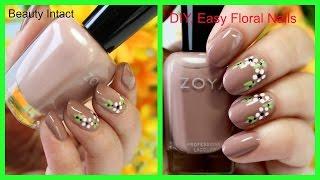 DIY, Easy Floral Nail Art Tutorial   Beauty Intact