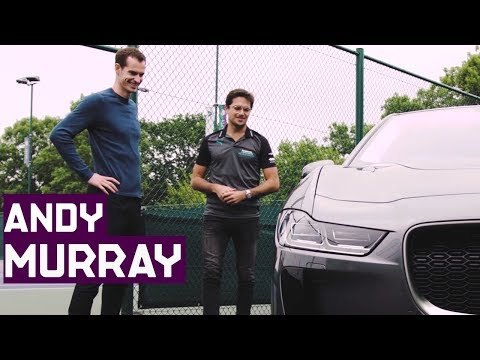 Sir Andy Murray And Nelson Piquet Jr Drive Jaguar I-PACE!