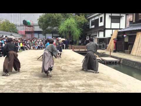 Toei Kyoto Studio Park Samurai Fight. Kyoto, Japan