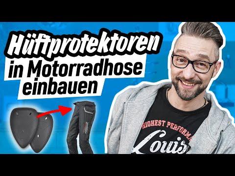 Wozu Hüftprotektoren in Motorradhose einbauen?