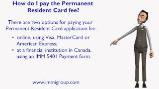 How do I pay the Permanent Resident Card fee?