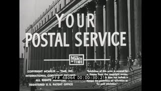 """1948 U.S. POSTAL SERVICE DOCUMENTARY  """"YOUR POSTAL SERVICE""""  MONEY ORDERS, STAMPS & MAIL  48064"""