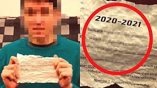 Podróżnik w czasie z 2021 roku ostrzegł ludzkość