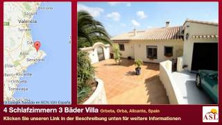 preview picture of video '4 Schlafzimmern 3 Bäder Villa zu verkaufen in Orbeta, Orba, Alicante, Spain'
