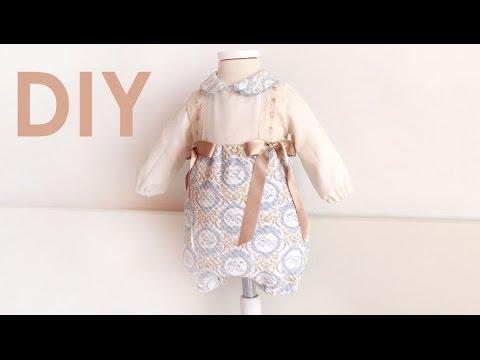 Pelele con manga larga. Costura para bebés.