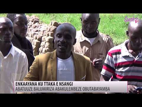 Abagobwa ku ttaka e Nsangi balumirizza ssentebe obutabayamba
