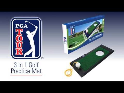PGA Tour 3 in 1 Golf Practice Mat