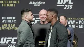 UFC 236: Kelvin Gastelum vs. Israel Adesanya Staredown - MMA Fighting