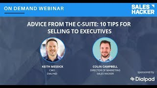 Advice from the C-Suite: 10 Tips for Selling to Executives