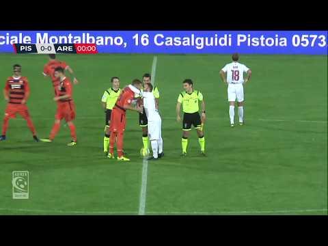 Pistoiese-Arezzo 1-1,la sintesi della partita