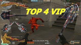 [ Bình Luận CF ] TOP 4 Cận Chiến VIP - Chém Zombie Như Chém Chuối - Tiền Zombie v4