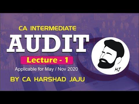 CA INTER AUDIT LEC 1| May/Nov 20 | BY CA HARSHAD JAJU
