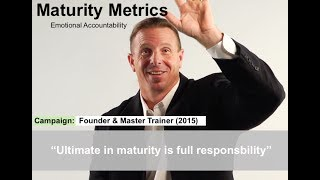 Maturity Metrics: Guardrails for Immaturity