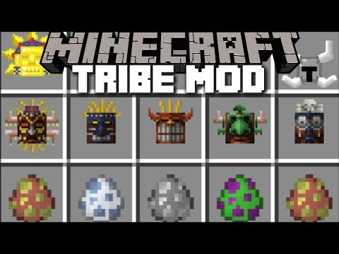 Minecraft TRIBE MOD / SURVIVE THE TRIBAL BATTLE AND WIN THE BOSS FIGHT!! Minecraft