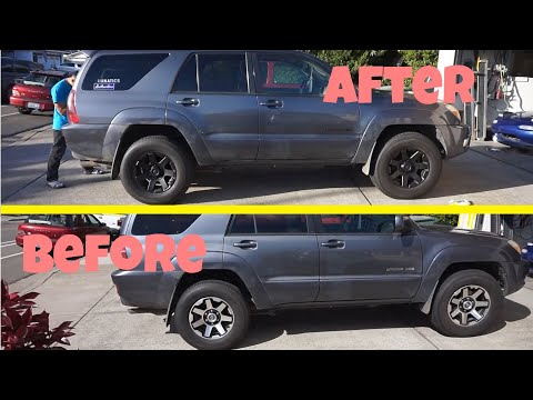 Plasti-Dip 5th Gen TRD wheels on 4th Gen 4runner!!