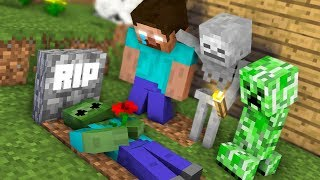 Monster School : RIP Zombie - Minecraft Animation