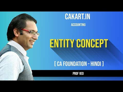 Entity Concept in Accounting CA Foundation By Prof Ved