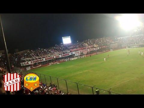 """""""Así festejo la hinchada del Santo vs Crucero del Norte"""" Barra: La Banda del Camion • Club: San Martín de Tucumán"""