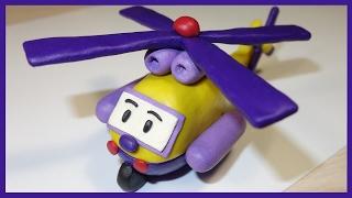 Лепим Робокара Керри из пластилина. Мультфильм. Robocar Carry.  로보카 폴리