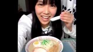 白間美瑠今日のご飯はラーメンです♪