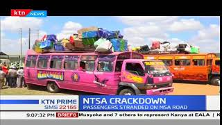 NTSA carry out a major road crackdown on public service and commercial vehicles