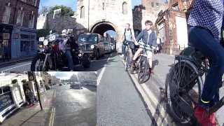 preview picture of video 'Cycling is interesting in York'