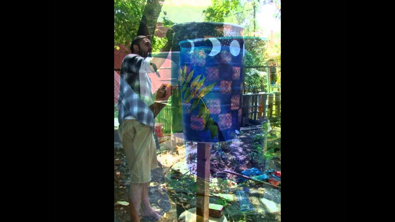 Collinwood Painted Rain Barrel Project (music:Cellocentric (c)2016)
