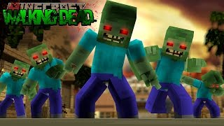 Minecraft THE WALKING DEAD - THE ZOMBIES TAKE OUR CAMP!!!!