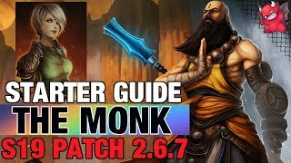 Monk Starter Build Guide Diablo 3 Patch 2.6.7 Season 19 Raiment