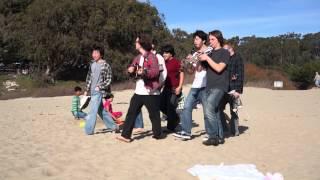 20130119140604 - A Walking band on Santa Cruz beach