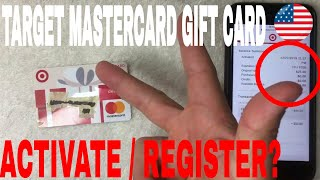 ✅  How To Activate And Register Target Mastercard Gift Card 🔴