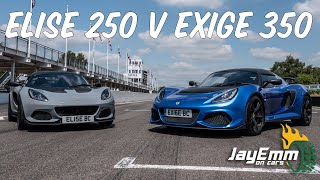 Lotus Elise Cup 250 vs Exige 350 - On Track at Goodwood