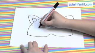 Cómo dibujar un antifaz de mapache