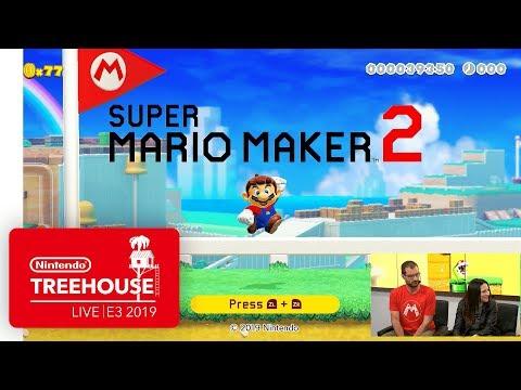 Super Mario Maker 2 Gameplay Pt. 1 - Nintendo Treehouse: Live | E3 2019 thumbnail